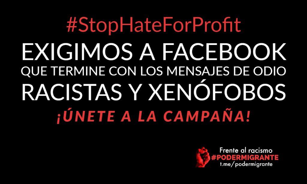COMUNICADO #StopHateForProfit