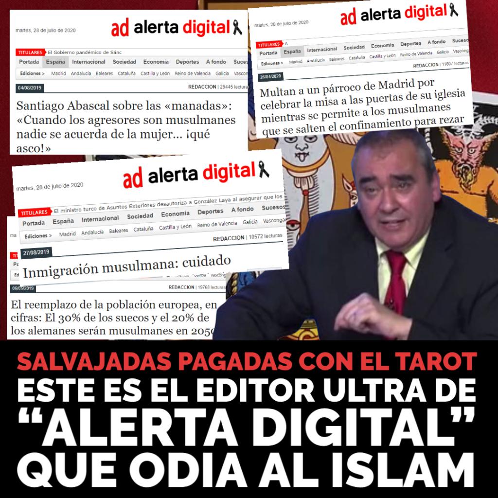 SALVAJADAS EN DIRECTO PAGADAS CON EL TAROT: ESTE ES EL EDITOR ULTRA QUE ODIA AL ISLAM