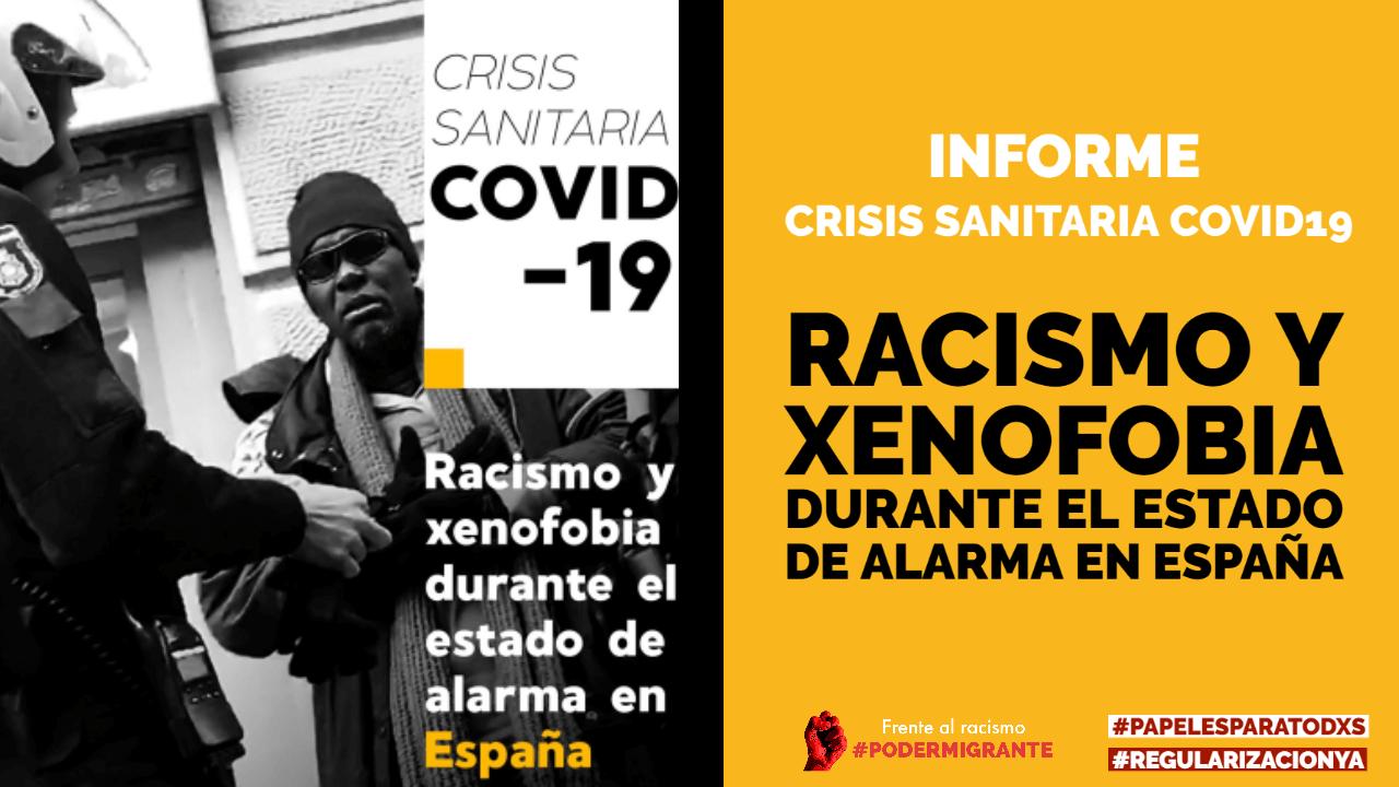 Crisis sanitaria COVID19. Racismo y Xenofobia durante el estado de alarma en España