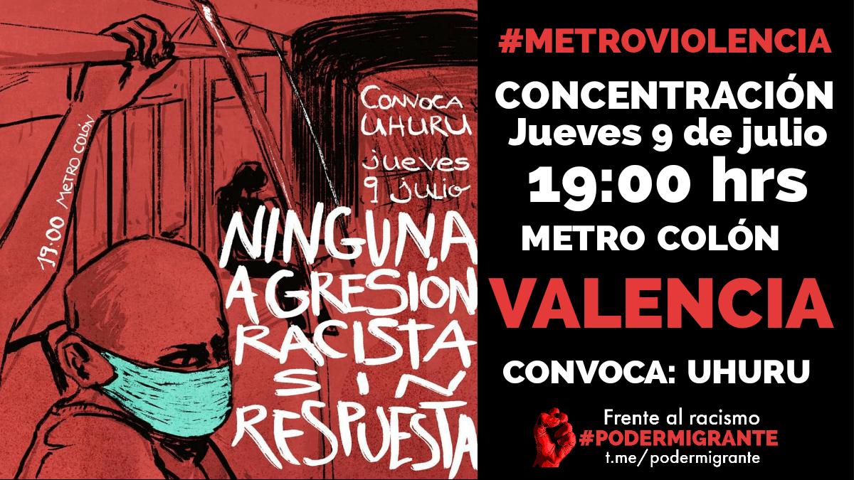 CONVOCATORIA DE CONCENTRACIÓN #MetroViolencia