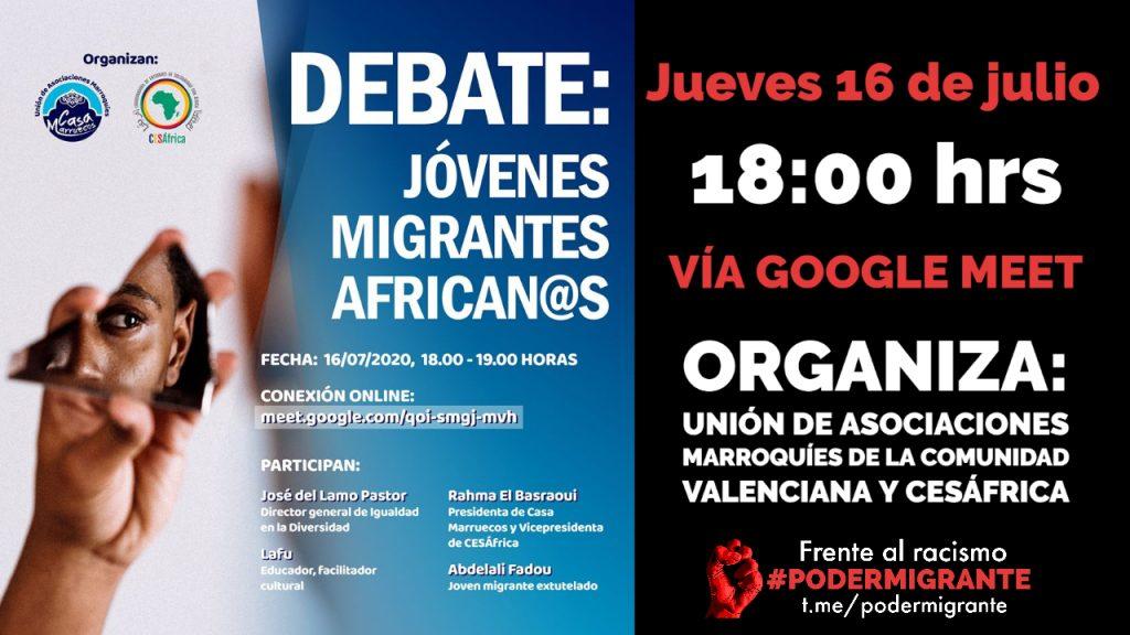 AGENDA: Jóvenes migrantes africanxs
