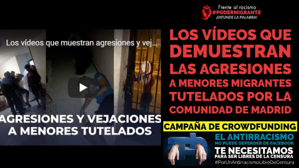 LOS VÍDEOS QUE DEMUESTRAN LAS AGRESIONES Y VEJACIONES A MENORES MIGRANTES TUTELADOS POR LA COMUNIDAD DE MADRID