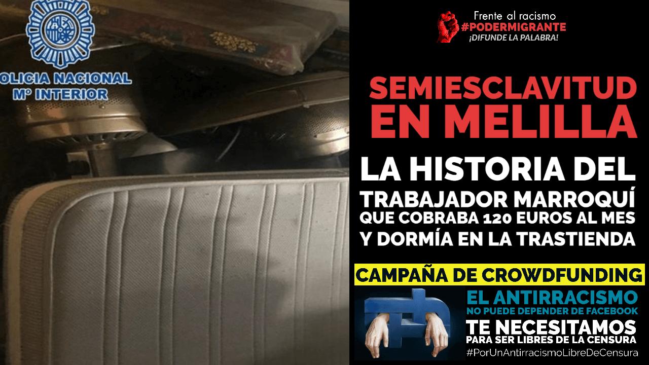 SEMIESCLAVITUD EN MELILLA: la historia del trabajador marroquí que cobraba 120 euros al mes y dormía en la trastienda
