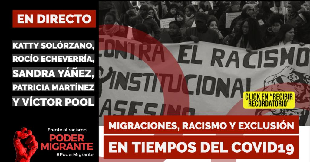 EN DIRECTO Migraciones, racismo y exclusión en tiempos del COVID19