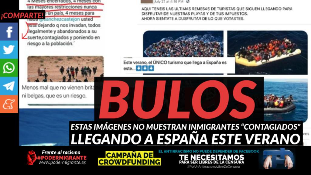 """BULOS: Estas imágenes no muestran inmigrantes """"contagiados"""" llegando a España este verano"""