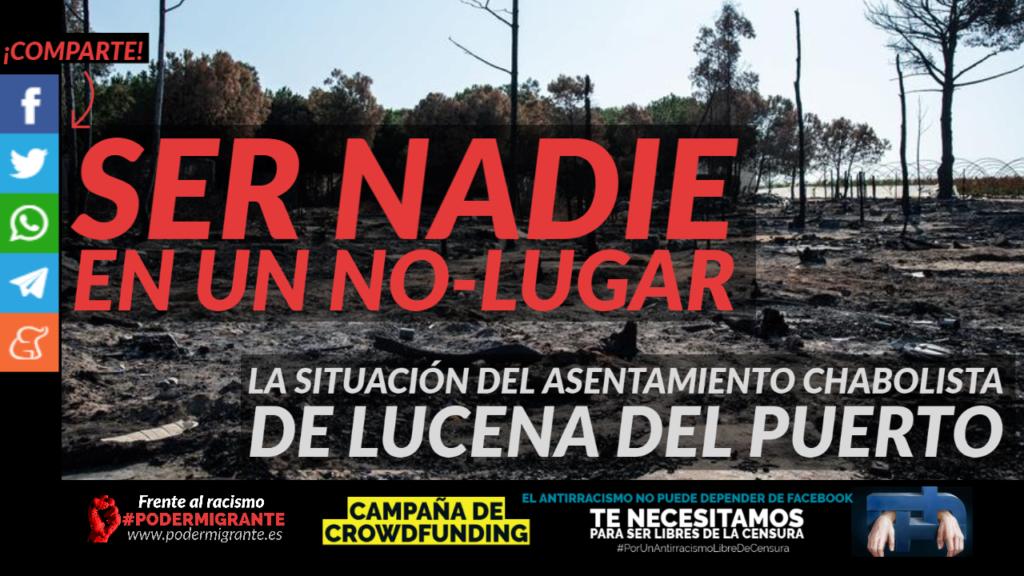 la situación del asentamiento chabolista de Lucena del Puerto