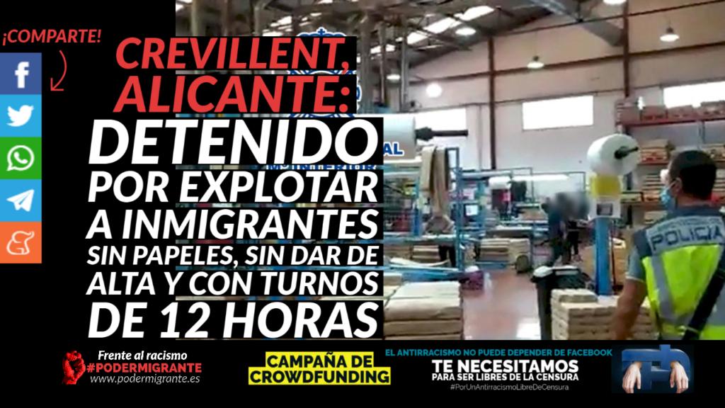 CREVILLENT, ALICANTE: Detenido por explotar a inmigrantes sin papeles, sin dar de alta y con turnos de 12 horas