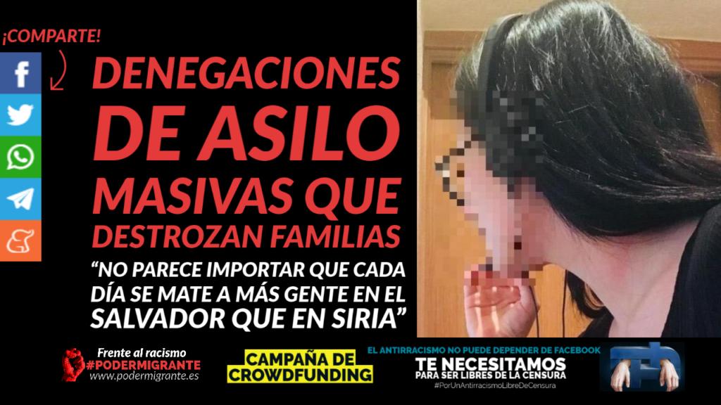 DENEGACIONES MASIVAS DE ASILO QUE DESTROZAN FAMILIAS