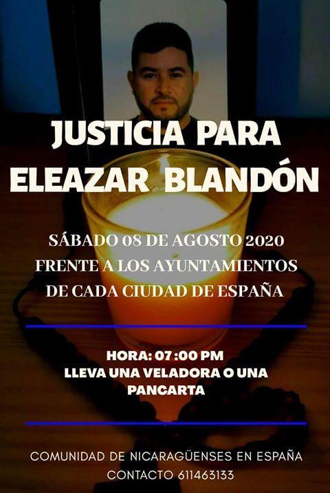 """Convocatoria de concentración """"Justicia para Eleazar Blandón"""""""
