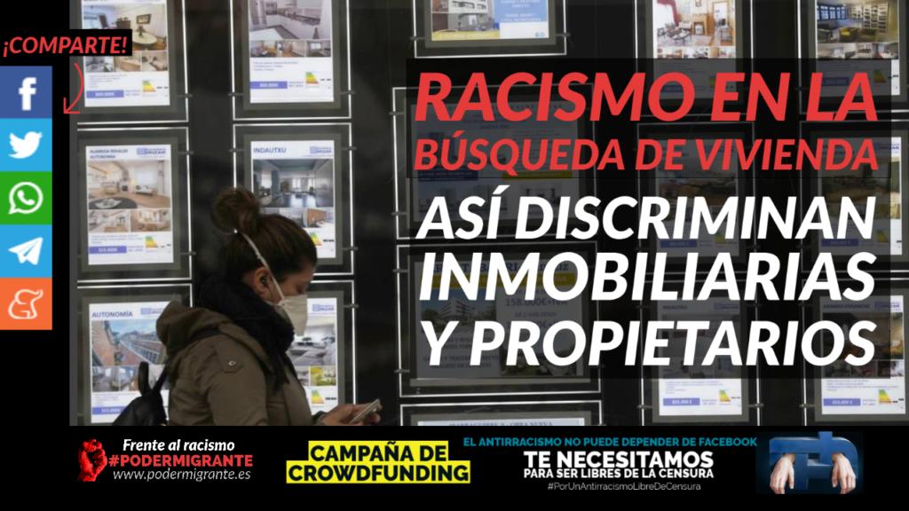 RACISMO EN LA BÚSQUEDA DE VIVIENDA. Así discriminan inmobiliarias y propietarios