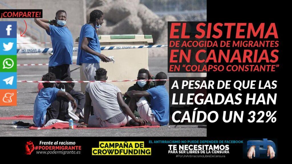"""LAS LLEGADAS A ESPAÑA CAEN UN 32% pero el sistema de acogida de migrantes en Canarias está en """"colapso constante"""""""