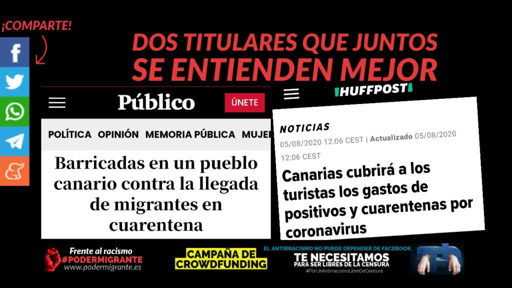 Canarias: Así es como operan impunemente el racismo y la xenofobia. No es miedo, es racismo. Puro y vil racismo.
