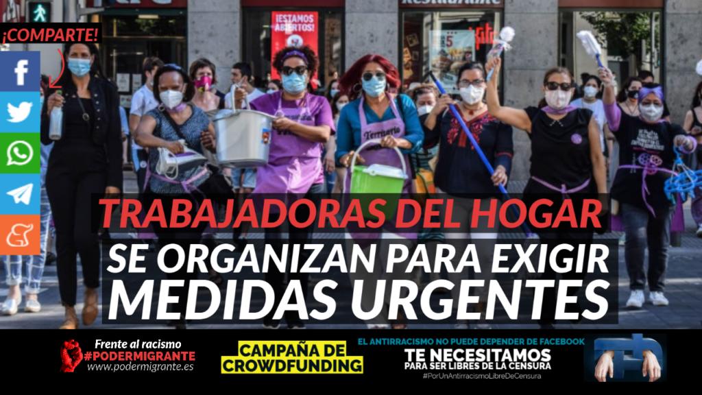 TRABAJADORAS DEL HOGAR SE ORGANIZAN PARA EXIGIR MEDIDAS URGENTES