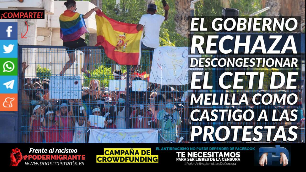 EL GOBIERNO RECHAZA DESCONGESTIONAR EL CETI DE MELILLA COMO CASTIGO A LAS PROTESTAS