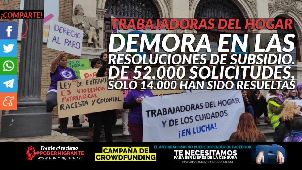 TRABAJADORAS DEL HOGAR: Demora en las solicitudes de subsidio