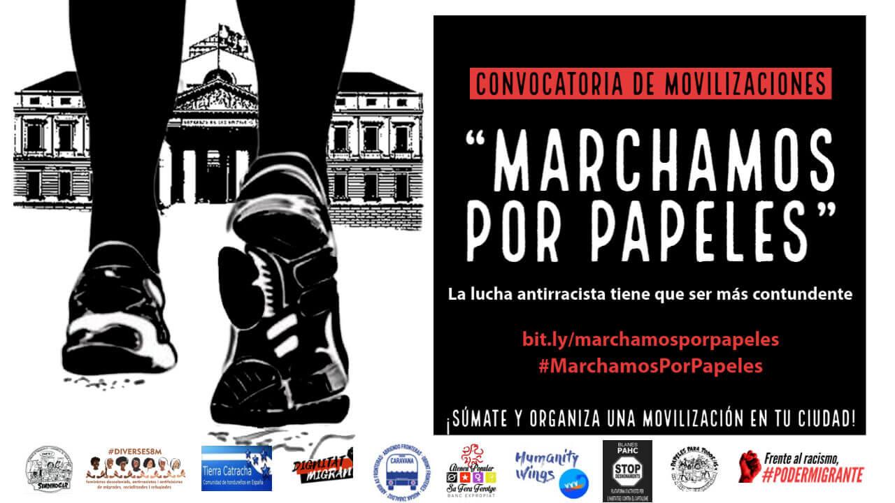 "CONVOCATORIA DE MOVILIZACIONES: ""MARCHAMOS POR PAPELES"""