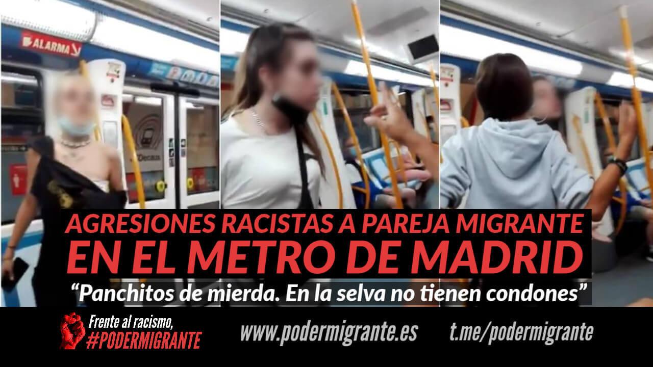 AGRESIONES RACISTAS A PAREJA MIGRANTE EN EL METRO DE MADRID