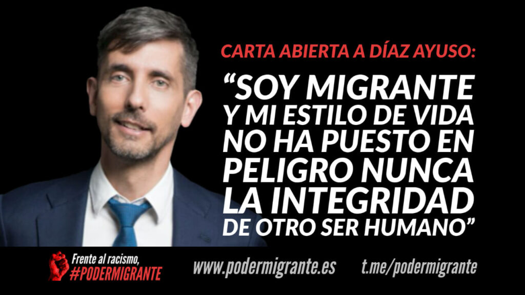 """""""SOY MIGRANTE Y MI ESTILO DE VIDA NO HA PUESTO EN PELIGRO NUNCA LA INTEGRIDAD DE OTRO SER HUMANO"""""""