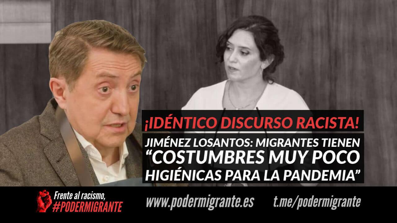 """JIMÉNEZ LOSANTOS: MIGRANTES TIENEN """"COSTUMBRES MUY POCO HIGIÉNICAS PARA LA PANDEMIA"""""""