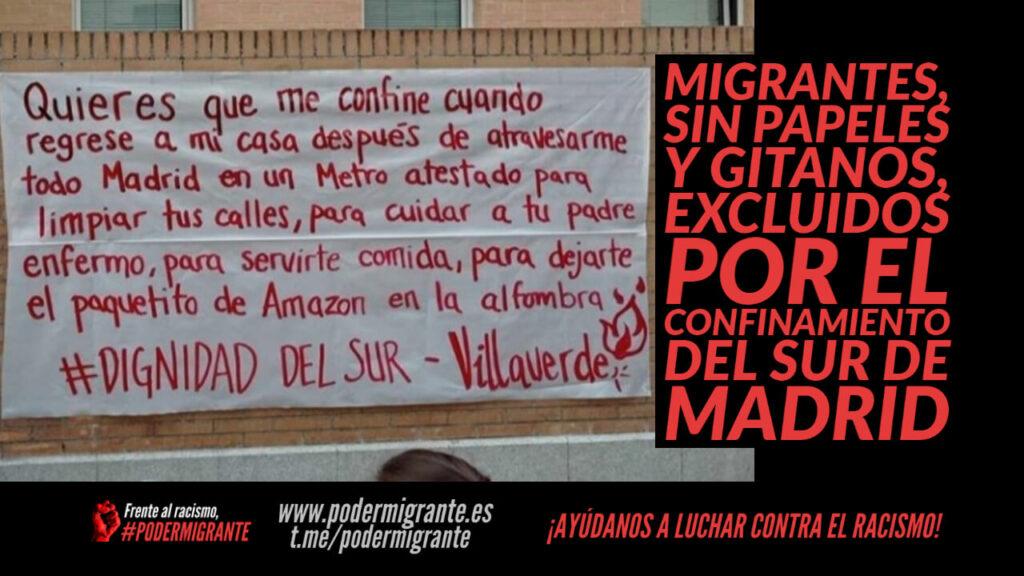 MIGRANTES, SIN PAPELES Y GITANOS, EXCLUIDOS POR EL CONFINAMIENTO DEL SUR DE MADRID