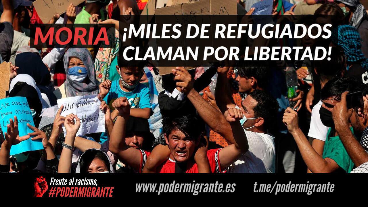 MORIA: MILES DE REFUGIADOS CLAMAN POR LIBERTAD