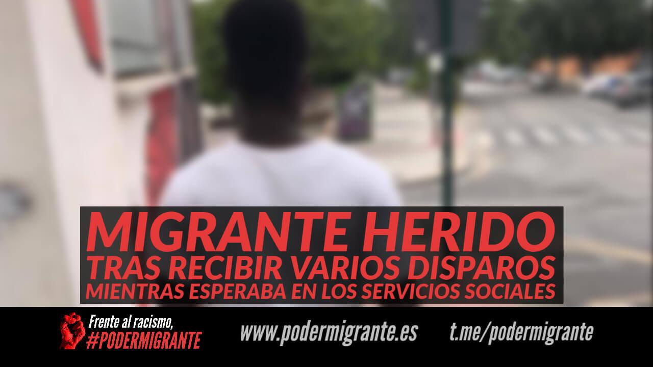 MIGRANTE HERIDO TRAS RECIBIR DISPAROS MIENTRAS ESPERABA EN LOS SERVICIOS SOCIALES