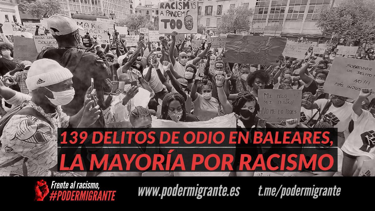 139 DELITOS DE ODIO EN BALEARES, LA MAYORÍA POR RACISMO