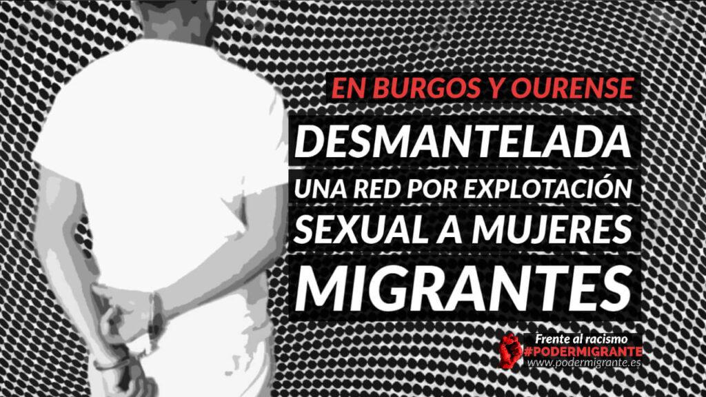 DESMANTELADA UNA RED POR EXPLOTACIÓN SEXUAL A MUJERES MIGRANTES EN BURGOS Y OURENSE