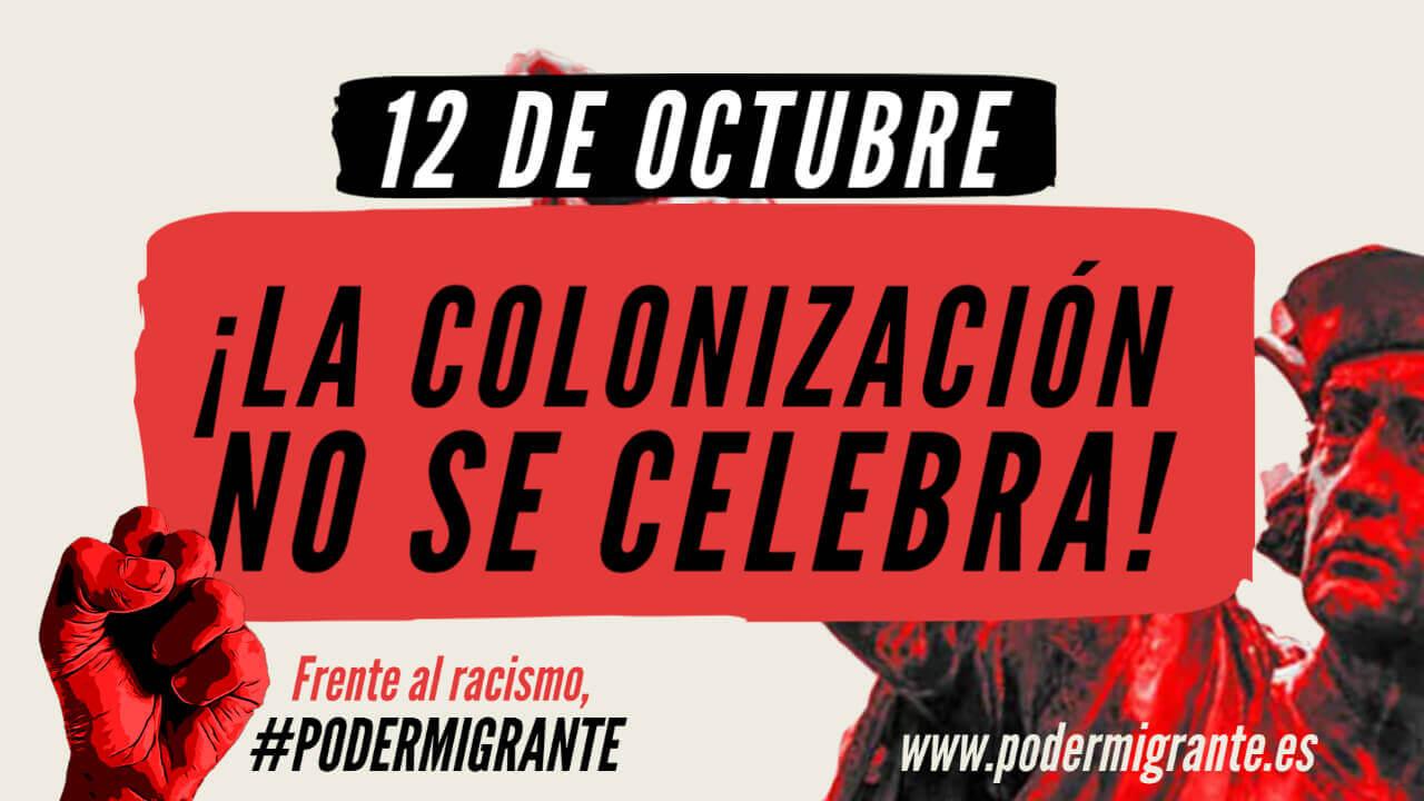12 de octubre. LA COLONIZACIÓN NO SE CELEBRA