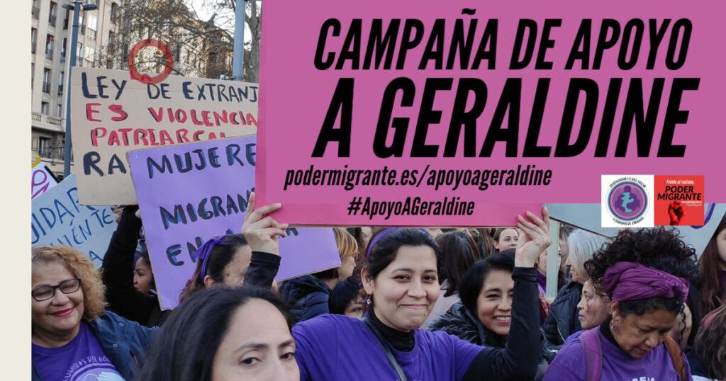 CAMPAÑA DE APOYO A GERALDINE #ApoyoAGeraldine