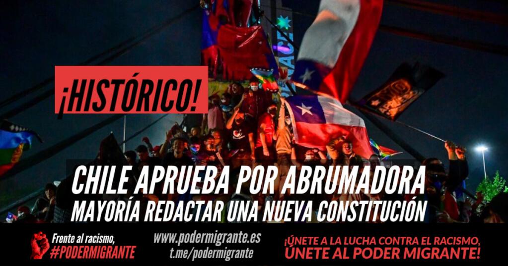 Chile aprueba por abrumadora mayoría redactar una nueva Constitución