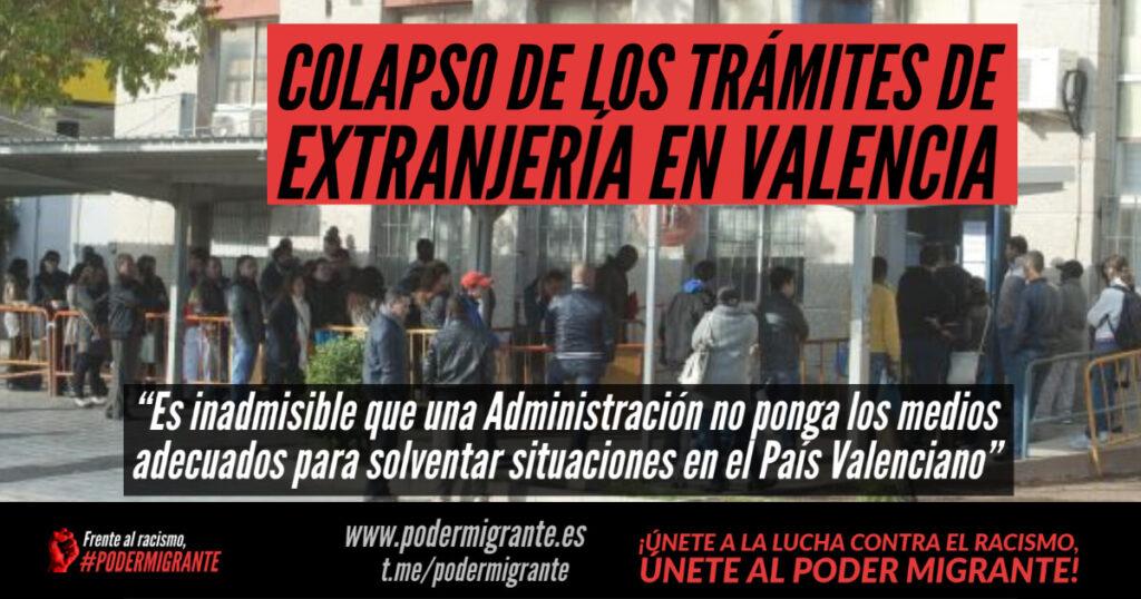 COLAPSO DE LOS TRÁMITES DE EXTRANJERÍA EN VALENCIA