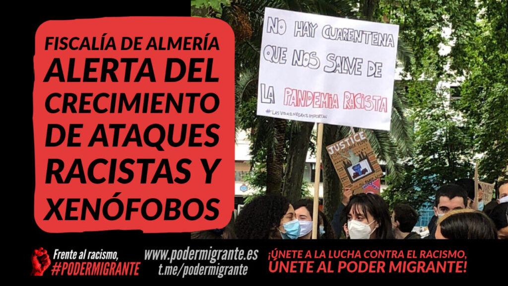 LA FISCALÍA DE ALMERÍA ALERTA DEL CRECIMIENTO DE ATAQUES RACISTAS Y XENÓFOBOS