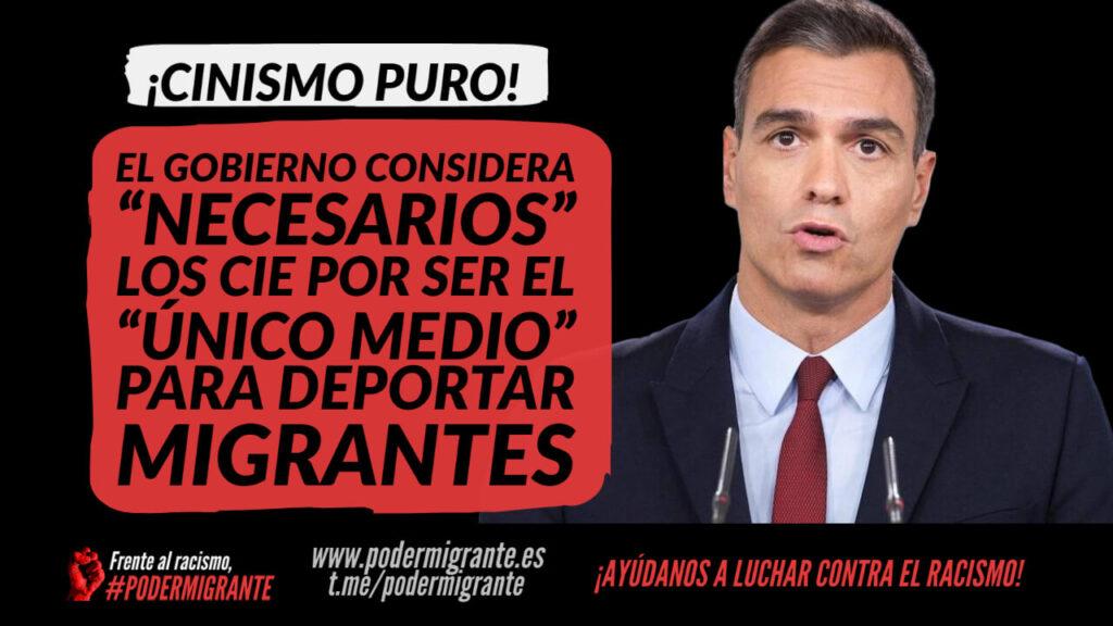 """EL GOBIERNO CONSIDERA QUE LOS CIE SON """"NECESARIOS"""" PORQUE SON EL """"ÚNICO MEDIO"""" PARA DEPORTAR MIGRANTES"""