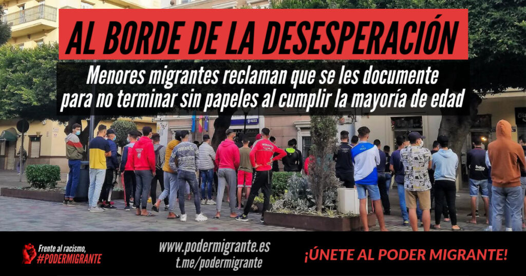 Menores migrantes reclaman que se les documente para no terminar sin papeles al cumplir la mayoría de edad