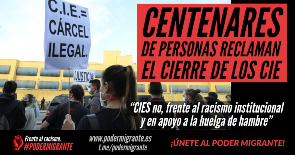 CENTENARES DE PERSONAS RECLAMAN EL CIERRE DE LOS CIE