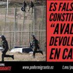 """ES FALSO QUE EL CONSTITUCIONAL """"AVALE"""" LAS DEVOLUCIONES EN CALIENTE"""