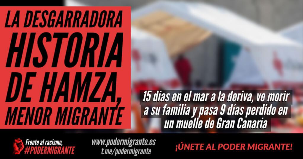 LA DESGARRADORA HISTORIA DE HAMZA, MENOR MIGRANTE: 15 días a la deriva, ve morir a su familia en el mar y pasa 9 días perdido en un muelle de Gran Canaria