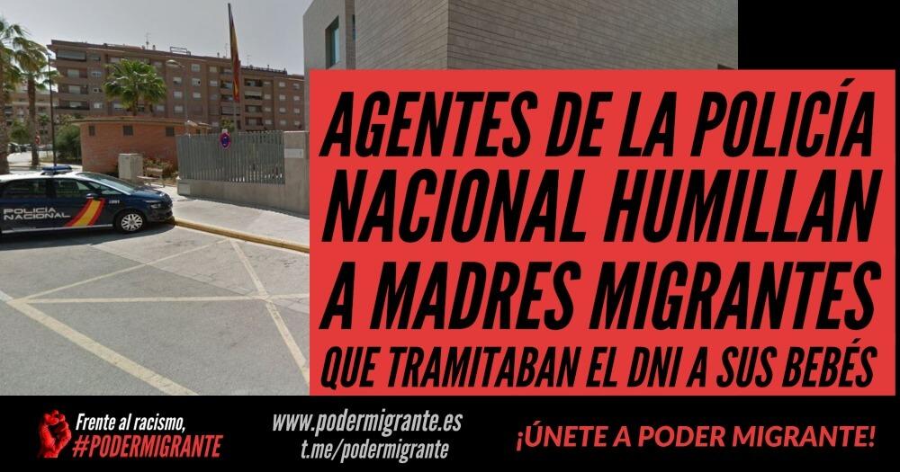 AGENTES DE LA POLICÍA NACIONAL HUMILLAN A MADRES MIGRANTES QUE TRAMITABAN EL DNI A SUS BEBÉS
