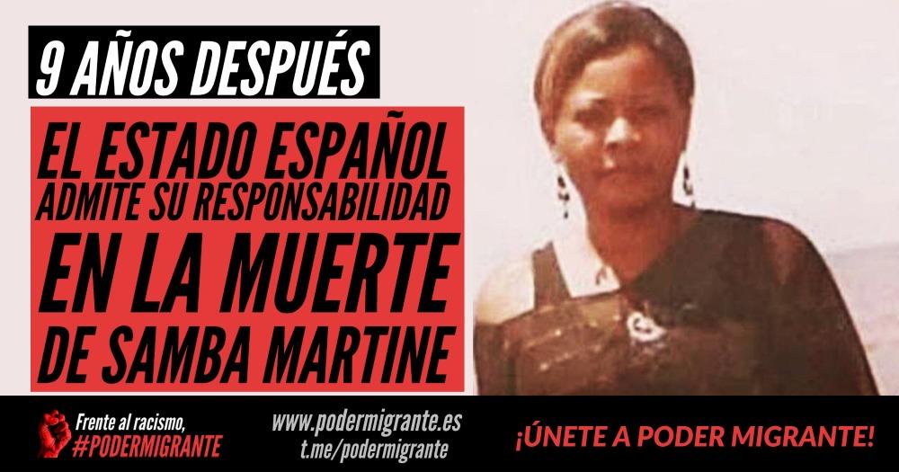 EL ESTADO ESPAÑOL ADMITE SU RESPONSABILIDAD EN LA MUERTE DE SAMBA MARTINE