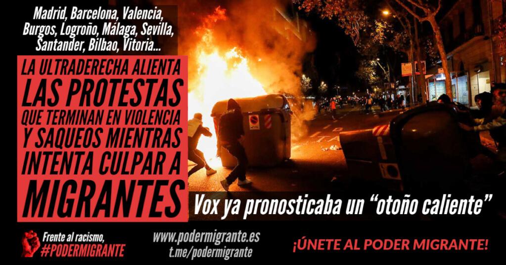 LA ULTRADERECHA ALIENTA LAS PROTESTAS QUE TERMINAN EN VIOLENCIA Y SAQUEOS MIENTRAS INTENTA CULPAR A MIGRANTES