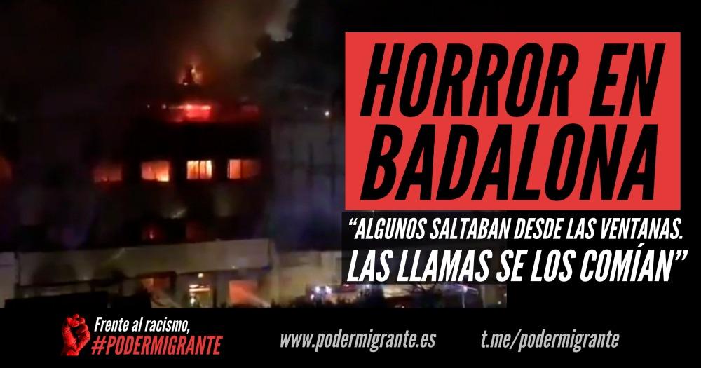 """HORROR EN BADALONA: """"Algunos saltaban desde las ventanas. Las llamas se los comían"""""""