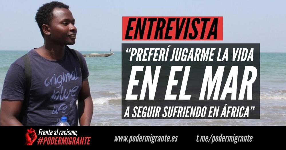 """ENTREVISTA: """"Preferí jugarme la vida en el mar a seguir sufriendo en África"""""""