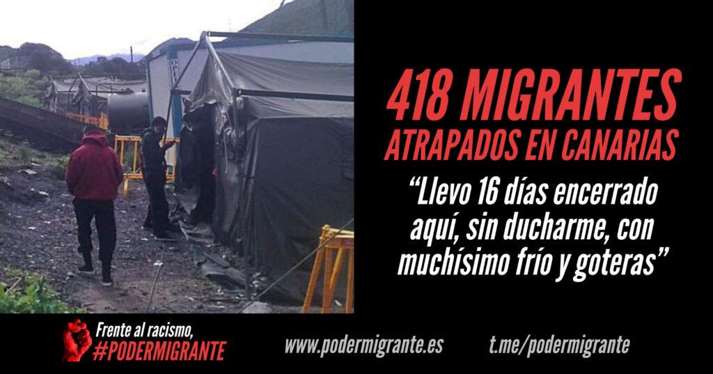 418 MIGRANTES ATRAPADOS EN CANARIAS