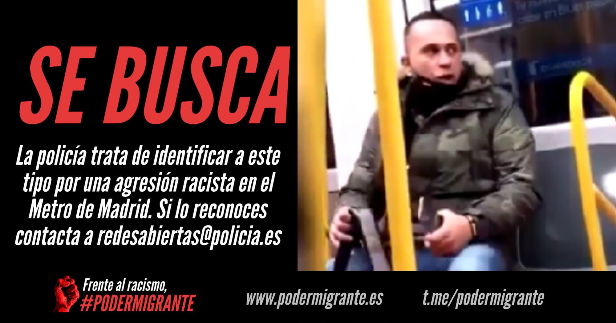 """NUEVA AGRESIÓN RACISTA EN EL METRO DE MADRID: """"A ver si te crees que eres algo en mi país, asquerosa"""""""