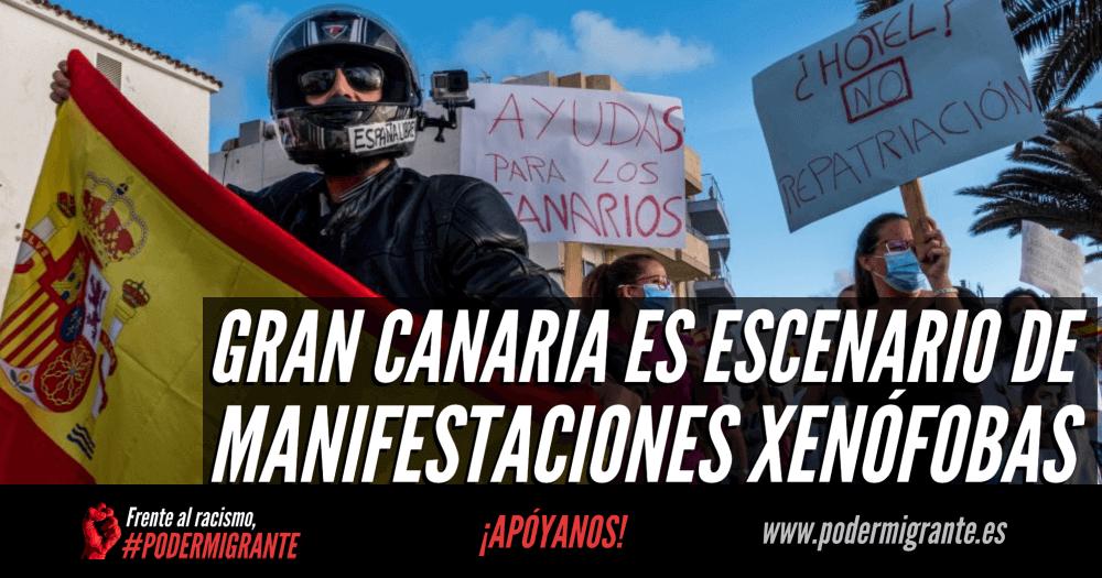 GRAN CANARIA ES ESCENARIO DE MANIFESTACIONES XENÓFOBAS CONTRA LAS PERSONAS MIGRANTES