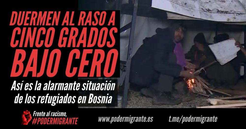 DUERMEN AL RASO A CINCO GRADOS BAJO CERO: la alarmante situación de los refugiados en Bosnia