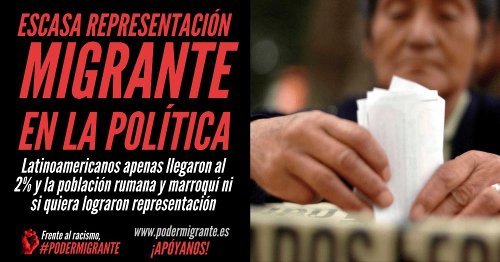 ESCASA REPRESENTACIÓN MIGRANTE EN LA POLÍTICA LOCAL