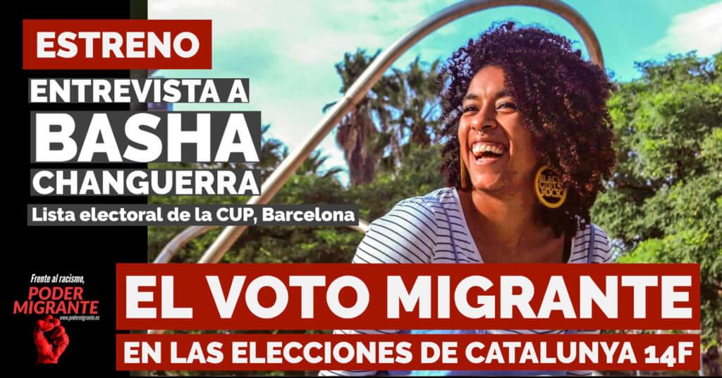ENTREVISTA A BASHA CHANGUERRA: El voto migrante en las elecciones de Catalunya 14F