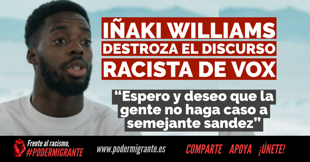 Iñaki Williams destroza el discurso racista de Vox